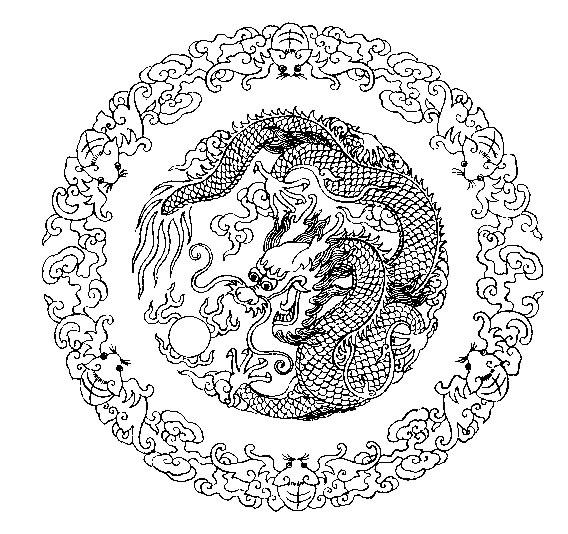 Coloriage assiette coloriages dragon jeu pour fille - Assiette dessin ...