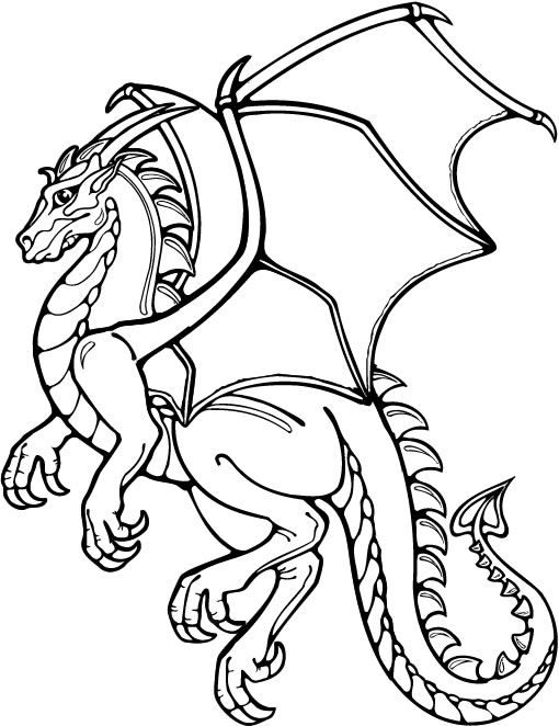 Coloriage chef coloriages dragon jeu pour fille - Modele dessin dragon ...