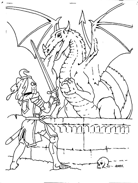 Coloriage chevalier coloriages dragon jeu pour fille - Modele dessin dragon ...