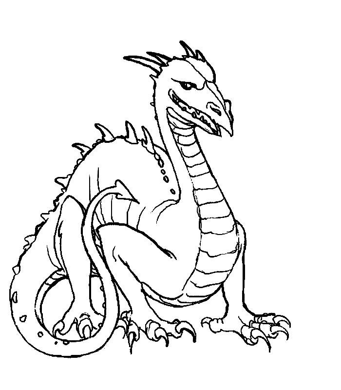 Coloriage Dragon Noir Coloriages Dragon Jeu Pour Fille