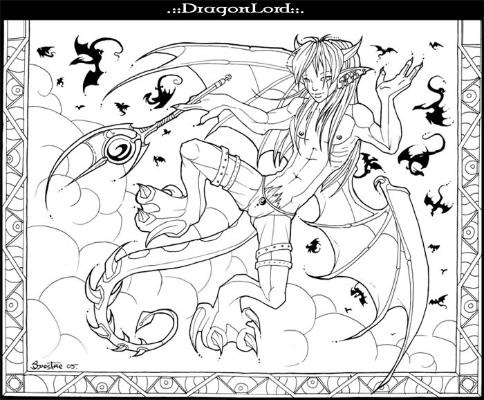 Coloriage dragonlord coloriages dragon jeu pour fille - Modele dessin dragon ...