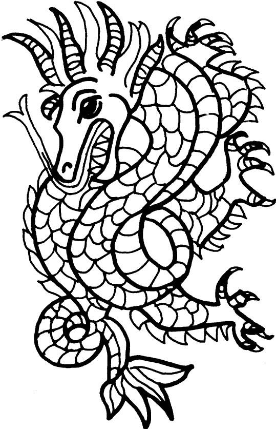 Coloriage mosaique (Coloriages dragon) - jeu pour fille