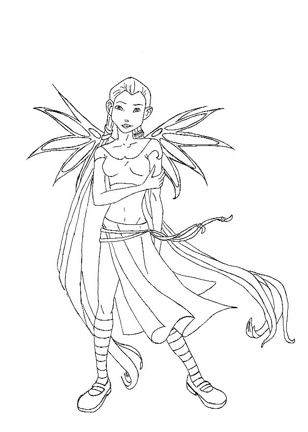 winx club witches coloring pages - photo#22